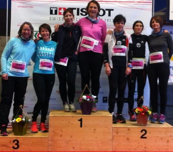 Les filles 40-50 avant leur départ: La motivation est là!!
